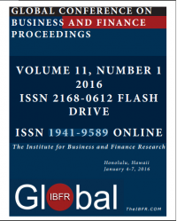 Image of GLOBAL CONFERENCE ON BUSINESS AND FINANCE PROCEEDINGS